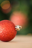 Close up of red christmas bauble Royalty Free Stock Photography