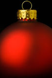 Close-up of Red Christmas Ornamant Top. Seasonal Holiday background for use as card or web display Stock Photo
