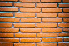 Close up of the red clay brick wall Stock Photography
