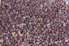 Close-up red color gravel shot. Photo has taken in Izmir at Turkey royalty free stock images