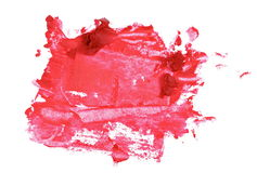Close up red color lipstick stroke on white Stock Image