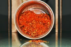 Red cooking spices mixture on the table Stock Photography