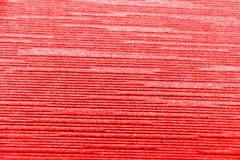 Close up red corrugated paper background. Royalty Free Stock Image