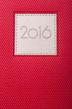 Close-up of red diary or agenda with current year Royalty Free Stock Image