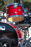 Close up of red drum set Stock Photos