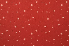 Close-up of red felt with stars background.  royalty free stock photo