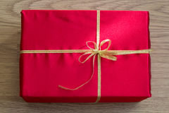 Close-up of Red Gift. Photo serie with Red Gifts Stock Photo