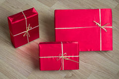 Close-up of Red Gifts. Photo serie with Red Gifts Royalty Free Stock Image