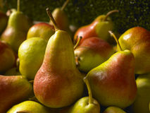 Close up of Red and Green pears Stock Image