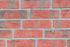 Close up of red and grey brick wall royalty free stock images