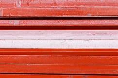Close up red heap of U shape beam steel Stock Photos