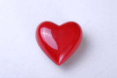 close up red heart shape symbol on white background with clipping path stock photo