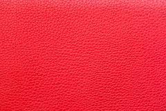 Red Leather Texture for Background stock images