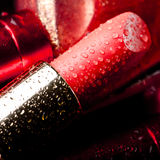 Close-up of red lipstick Stock Image