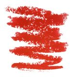 Lip gloss sample isolated on white Stock Photos