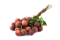 Close up red lychee Stock Photo