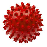 Close-up red massage ball isolated on white Royalty Free Stock Image