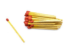 Close-up of a red match Stock Image