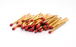 Close-up of a red matches isolated Royalty Free Stock Photos