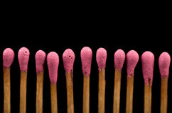 Close-up of a red matches Royalty Free Stock Photo