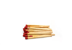 Close-up of a red matches  on a white background Stock Image