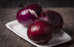 Close up Red Onion Stock Photo