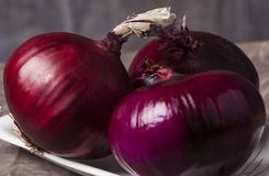 Close up Red Onion Stock Photography