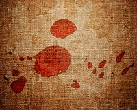 Close up of red paint drops Royalty Free Stock Photos