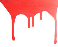 Close up of red paint leaking Stock Image