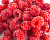 Close up red raspberries Royalty Free Stock Photography