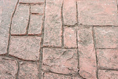 Red rectangle brick floor Royalty Free Stock Photography