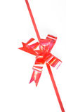Close up of red ribbon Royalty Free Stock Photography