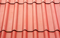 Close up of red roof texture Royalty Free Stock Photos