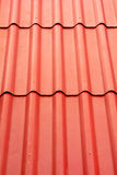 Close up of red roof texture Royalty Free Stock Photography