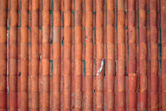 Close up of red roof texture Royalty Free Stock Images