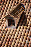 Close up of red roof and tiles Royalty Free Stock Photography