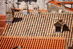 Close up of red roof and tiles Royalty Free Stock Image