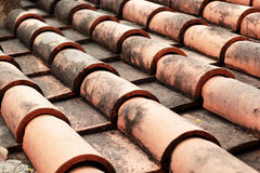 Close up of red roof tiles. Stock Images