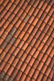Close up of red roof tiles Royalty Free Stock Photography