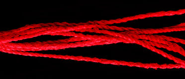 Close-up red rope Stock Photos