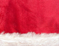 Close up red Santa Claus hat texture Royalty Free Stock Photos