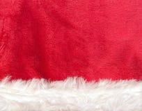 Close up red Santa Claus hat texture Royalty Free Stock Photos