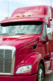 Close up of a red semi truck Stock Image