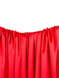 Close up of red silk fabric background. Stock Image