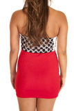 Close up red skirt polka dot top back Royalty Free Stock Images