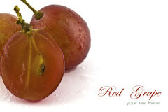 Close up of red sliced grapes with Royalty Free Stock Photo