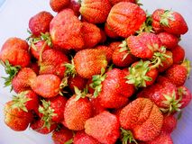 Close up red strawberries / red vitamine / healthy food. Close up red strawberries healthy food Stock Photos