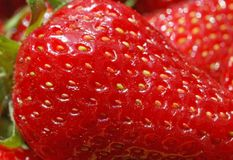 Close up of red strawberry Stock Images