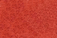 Close-up of Red synthetic fibrous surface Stock Image