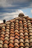 Close up of red tiled roof Royalty Free Stock Images